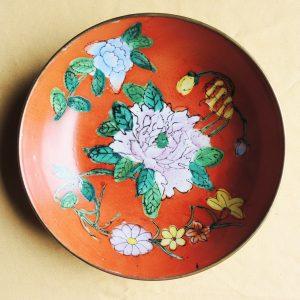Assiette Décorative Chinoise Vintage Orange
