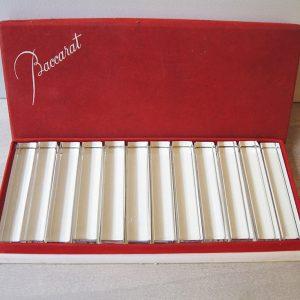 Repose-Couteau Vintage En Cristal De Baccarat