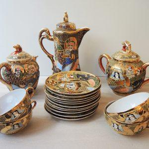 Service De Thé Japonais Vintage En Porcelaine