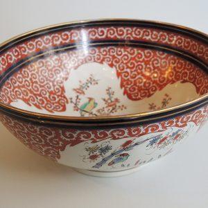 Bol Chinois Vintage En Porcelaine Polychrome