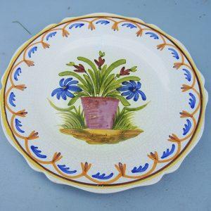 Assiette Vintage En Faïence De Nevers