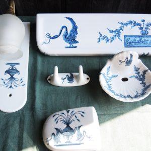 Ensemble Vintage Pour Salle De Bain Porcelaine