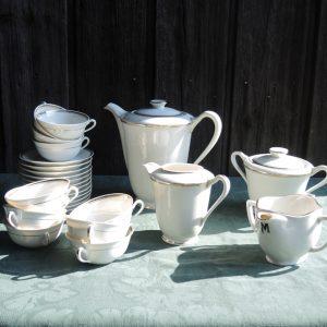 Service À Café-Thé Vintage En Porcelaine PORAL