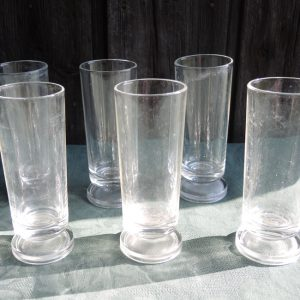 6 Verres Longs À Soda Transparent Vintage
