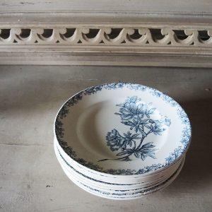 10 Assiettes Plates Vintage ST AMAND – Décor Flore