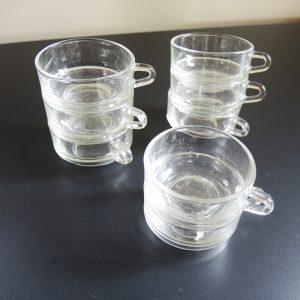 8 Tasses À Café Empilables Vintage Duralex