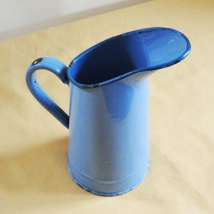 Broc Pichet Carafe VIntage En Email Bleu