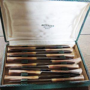 Coffret De 12 Couteaux Vintage De La Coutellerie Hutereau Dieppe