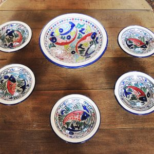 Service De Bouillabaisse Vintage En Céramique