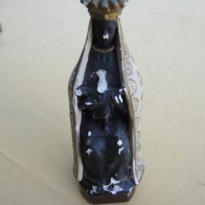 Statuette Vintage En Céramique : La Vierge Noire