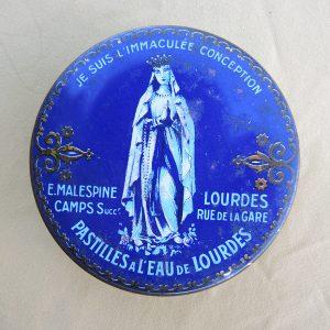 Boite De Pastilles Vintage De Lourdes – E MALESPINE