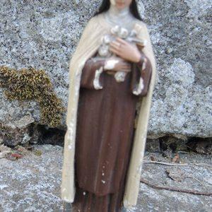 Statue Religieuse Vintage En Céramique : Thérèse De Lisieux