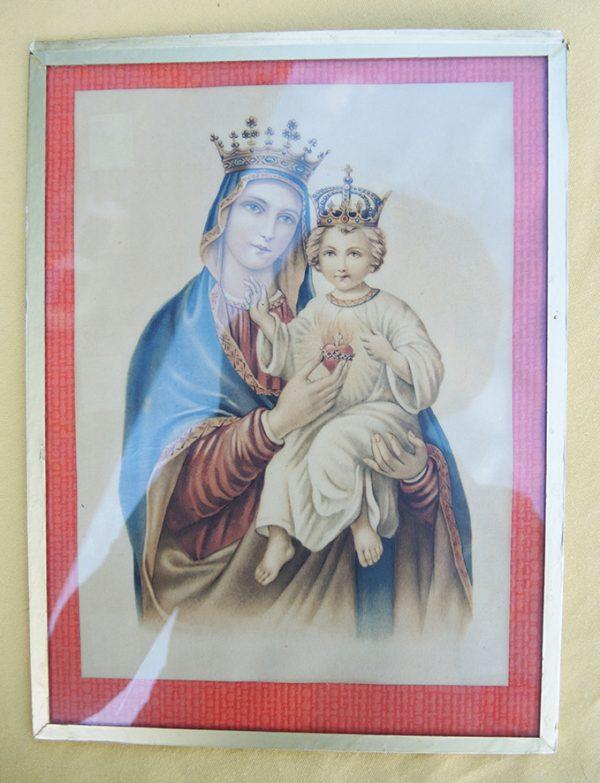 ancienne-reproduction-encadree-de-la-vierge-avec-lenfant-jesus