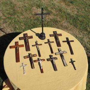 Lot De 12 Croix Murales Vintage Objets Religieux