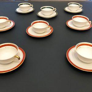 8 Tasses À Café Vintage En Porcelaine LJ & Cie