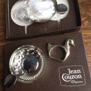 Coffret De 2 Tastevin Vintage Jean Couzon Orfèvre