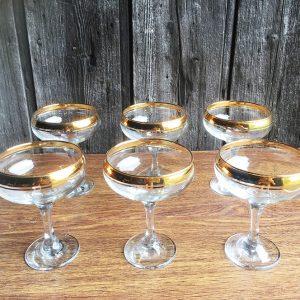 Coffret De 6 Coupes De Champagne Vintage