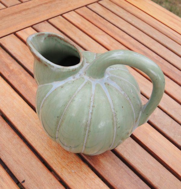 ancien-pichet-citrouille-en-ceramique-verte