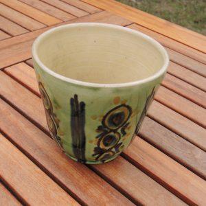 Cache Pot Vintage Vert De La Poterie D'Annecy