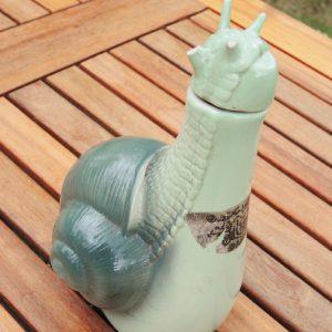 Bouteille À Liqueur Vintage En Céramique Escargot