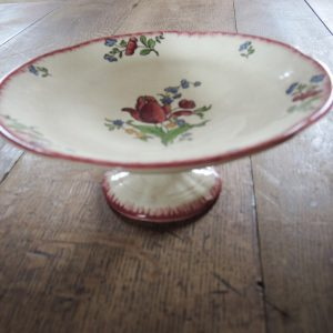 Compotier Vintage En Céramique À Décor Floral GIEN