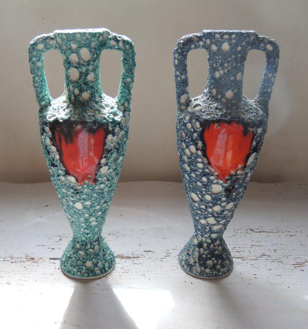 paire-danciennes-vases-barbotine-de-vallauris