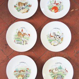 Assiettes À Fromages Vintage En Porcelaine