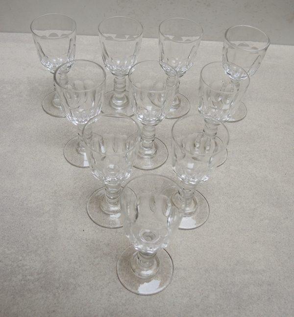 10-anciens-verres-a-goutte-h-9-cm