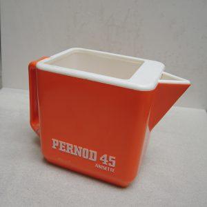 Carafe Vintage PERNOD 45 ANISETTE En Plastique Orange