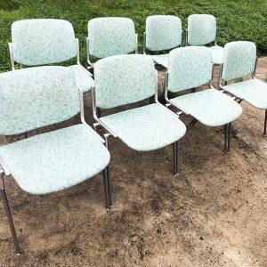 8 Chaises De Bureau VintageDSC CASTELLI