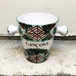 Seau À Glaçons Vintage En Céramique Signé DAG Vallauris