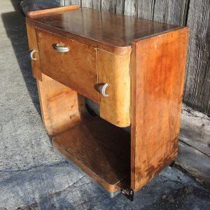 Table-Console Vintage Art Déco En Bois