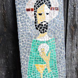 Tableau En Mosaïque Vintage Du Christ