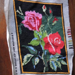 Tapisserie Vintage Canevas : Roses