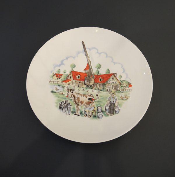 ancien-plateau-a-fromage-en-porcelaine-et-metal-la-laiterie