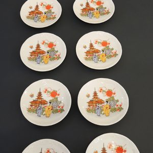 12 Mini Assiettes Vintage 'Japan Style' Made in Italy