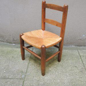 Chaise Vintage en Paille & Bois Enfant