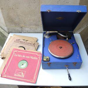 Gramophone Vintage Portable Orphée