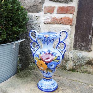 Vase Vintage En Faïence Alcobaça Portugal