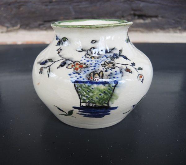 ancien-vase-ceramique-fleurs-peint-main