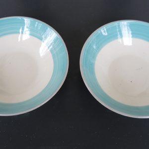 2 Assiettes Vintage Creuses En Céramique