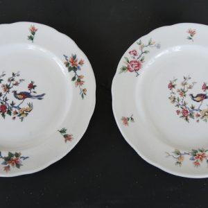 2 Assiettes Vintage En Porcelaine PYROBLAN De Sarrguemine