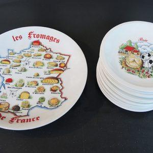 Service À Fromages Vintage PORCELAINE DE SOLOGN