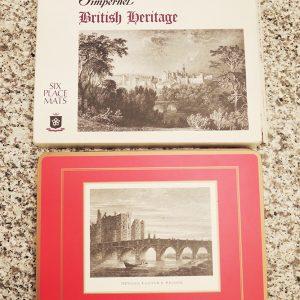 6 Sets De Table Vintage Anglais PIMPERNEL