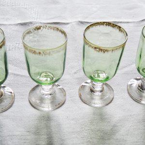 Verres à Digestif Vintage Verts