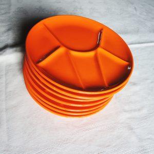Assiettes À Raclette-Fondue Vintage