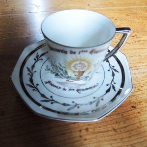 Tasse Vintage Porcelaine Première Communion