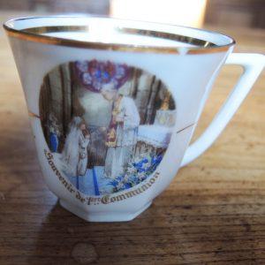 Tasse En Porcelaine « Souvenirs De Première Communion »