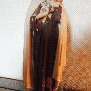 Statue Dévotionelle Vintage En Plâtre : Thérèse De Lisieux