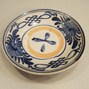 Coupe Vintage En Céramique Décor Gouache